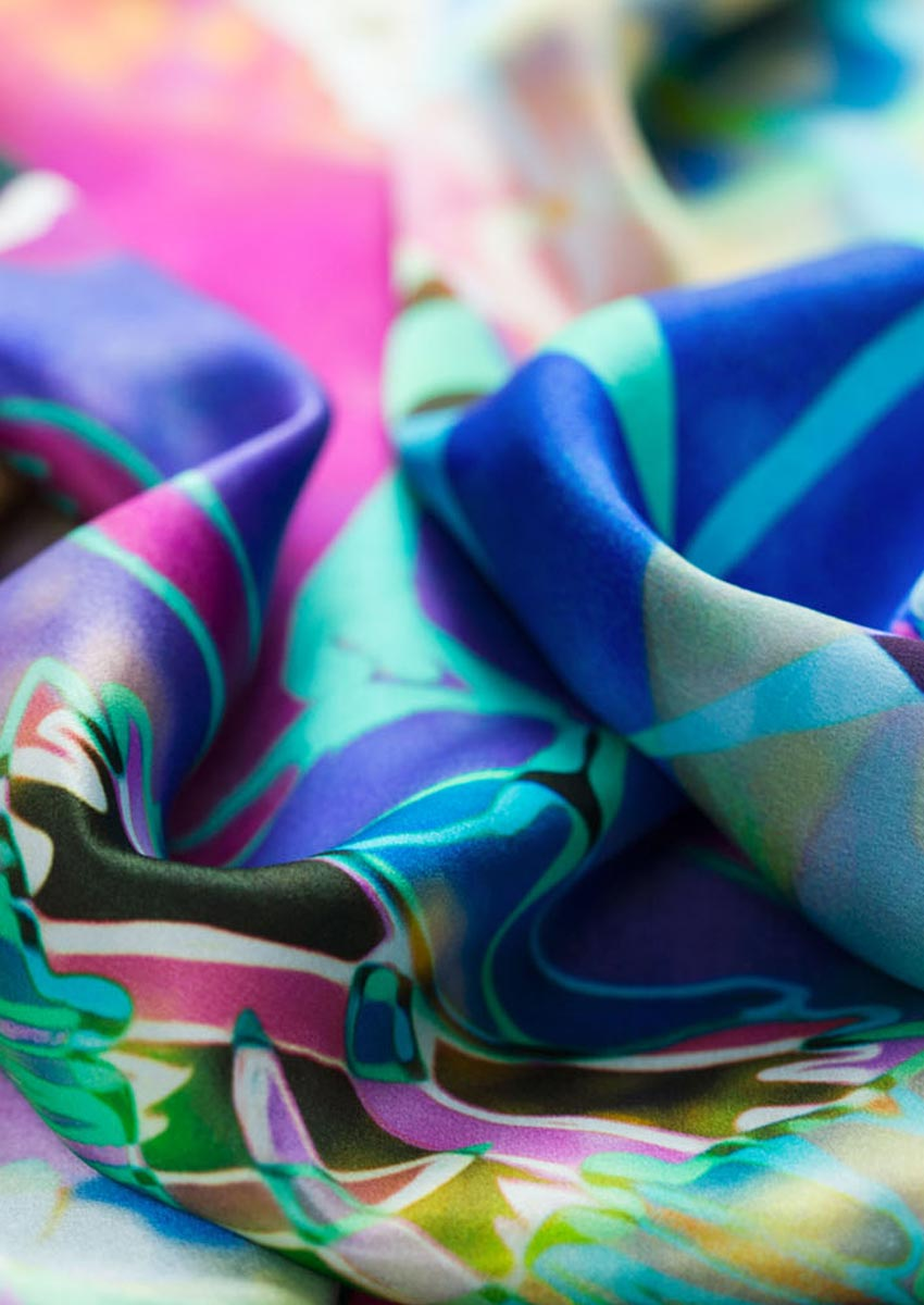 silk scarf detail