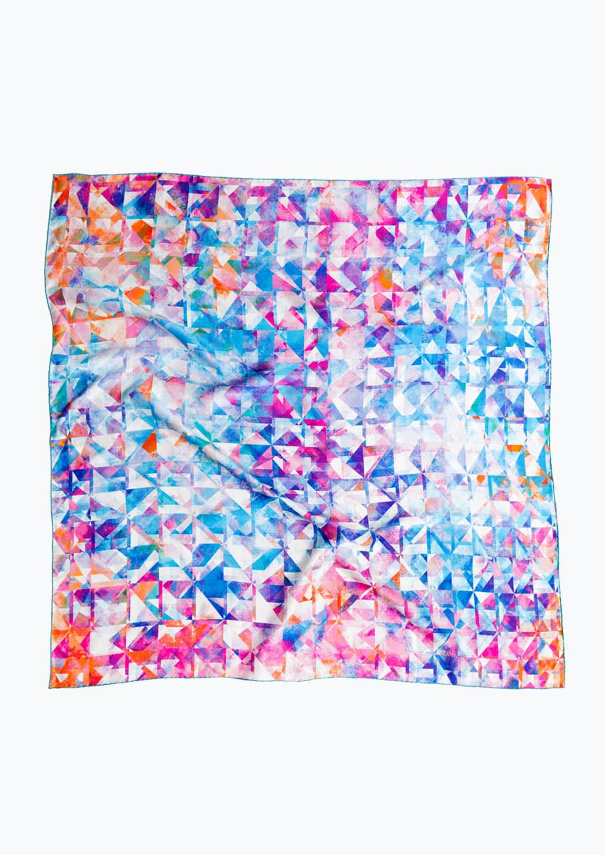 100% pure silk scarf designed in Britain